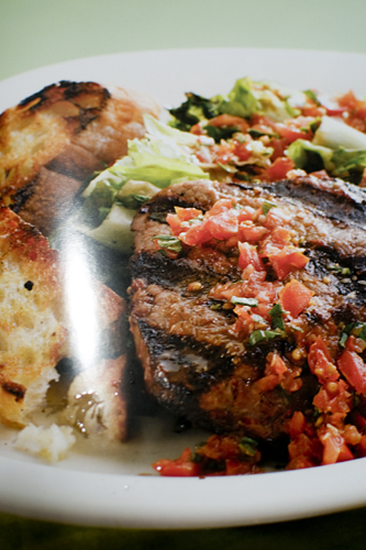 Recipe for Steak with Tomato Herb Vinaigrette
