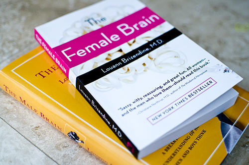 As expected, the book on male brains is indeed shorter. :)